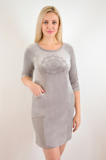 Платье из велюра Арт-2273 Р/Р 44-52