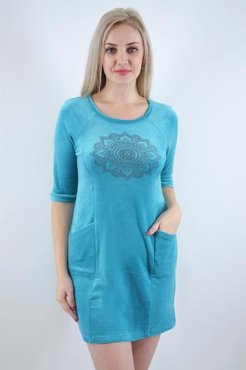 Платье из велюра Арт-2500 Р/Р 44-52