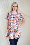 Блуза из трикотажного  полотна Арт-2115 Р/Р 54-60