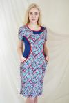 Платье из вискозы с лайкрой Арт-2154 Р/Р 50-56