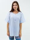 Рубашка из льняной ткани Арт-3754 Р/Р 52-56