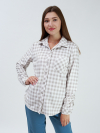 Рубашка из флиса Арт-3864 Р/Р 44-48