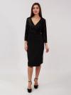 Платье из кобинированных тканей Арт-8040 Р/Р 50-54