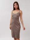 Платье из стрейч замши Арт-8041 Р/Р 42-46
